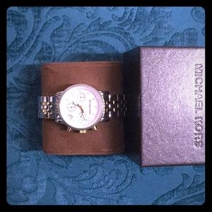 Michael Kors Ritz Two Tone Band Watch